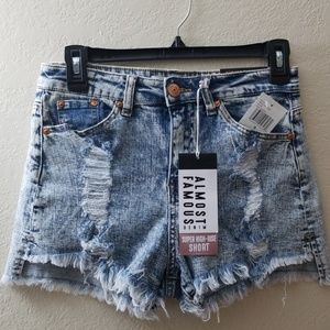Almost Famous Super High Rise Shorts